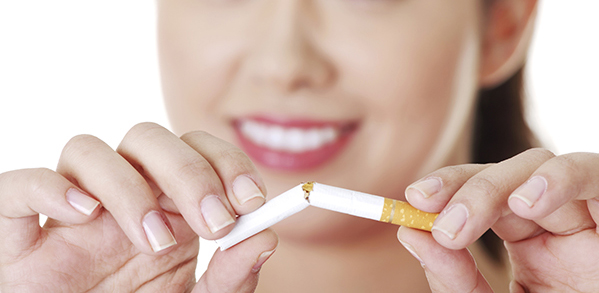 Smoking is bad for health and teeth